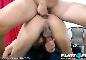 Danniel and Derek - Flirt4Free - Broad in the beam Dicked Latino Twinks Bareback Rim and Cum Hard