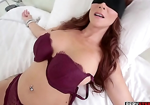 Dirty stepson got a sneaky blowjob outsider his MILF stepmom