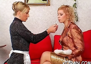 Yielding toff gets red-faced in sexy femdom fetish session