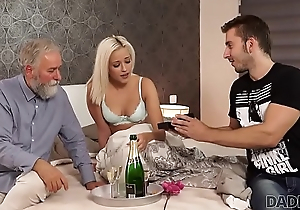 DADDY4K. Amazing dad and young girl sex undivided wide cumshot on ass