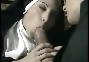 Naughty priest fucking two hot nuns