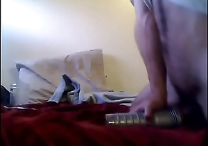 Quick fleshlight cumshot on pussy after I pound it