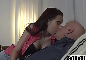 Step daughter wants to fuck her step dad while he watches the football game