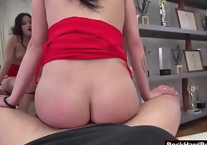Busty Emily gets her pussy fucked at the end of one's tether Rocco