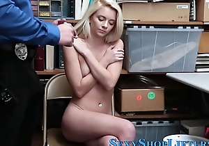 Teenage shoplifter facial