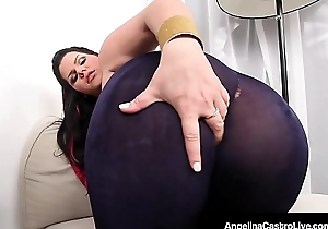 Latina BBW Angelina Castro Rubs Her Plump Pussy &_ Big Boobs!