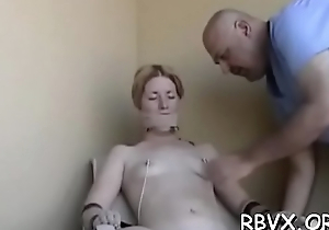 Nasty strumpets get degraded in a real rough bondage session