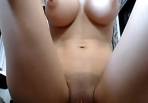 Thin girl with fat tits and pussy