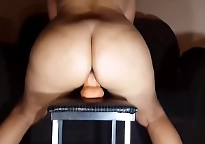 Dazzling Milf With A Creamy Pussy Riding The brush Dildo