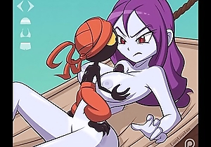 Risky Boots from the Shantae games gets her huge pasquinade boobs fucked and a facial with extra futa scenes
