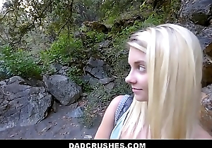 Hot Blonde Shy Tiny Teen Law Daughter Riley Star Gets Law Dad Big Cock While On Camping Trip POV