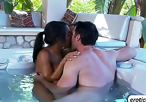 An outdoor interracial threesome with Adrian Maya