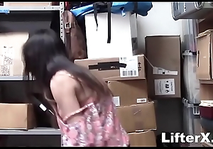 PRICE SWAPPING TEEN SAVES HER JOB BY FUCKING- LifterX.com