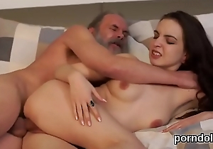 Innocent college girl is seduced and screwed by older mentor