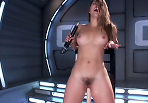 Sultry Dani Daniels machines sex & varied toys