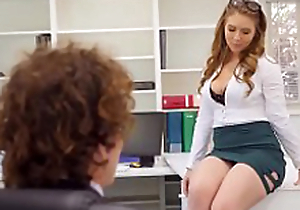 Creampies with crestfallen office secretary Lena Paul