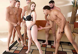 Lena Paul In the porn scene - Brazzers House sex at hand five