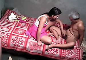 Horny indian Daughter tricks her dad to fuck her pussy