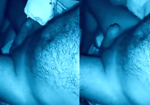 Desi maid sucking cock caught by hidden night vision camera