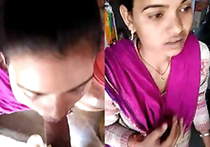 Desi Girl Sucking dick in a open store