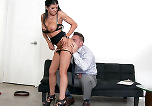 Remarkable MILF Romi Rain undresses so man could worship her XXX body
