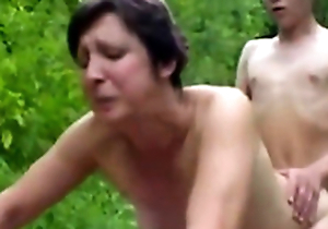 Forest XXX Sex Fuckers 1 - Old Woman & Prepubescence - Sex Scene