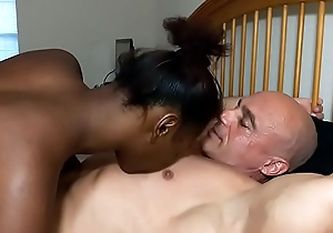 Chest licking leads to creampie