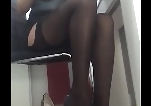 Dominalucia Dominatrix lingerie and stockings fetish with high heels with webcam taking money from their slaves