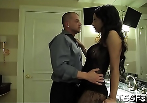 Horny dude scores a fancy ladyboy for some arse pound