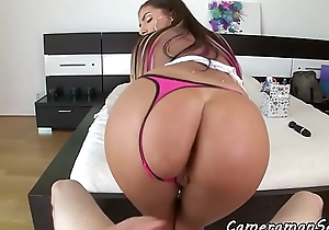 POV fucked MILF riding cock after foreplay