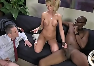 Kaylee Hilton anally impaled on black monster cock