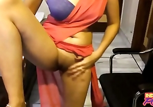 Indian Amateur In Saree Showing Her Shaved Brand-new Pussy